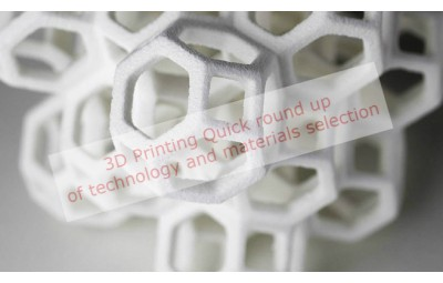 3d printing material selection